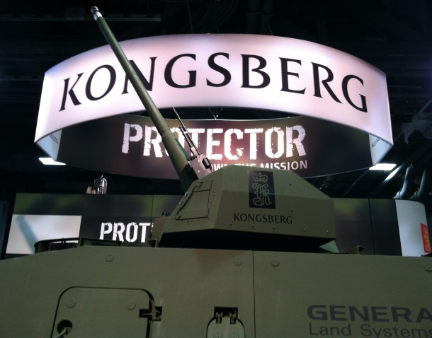Kongsberg's 30 mm Medium Caliber Remote Weapon Station (Photo Gina